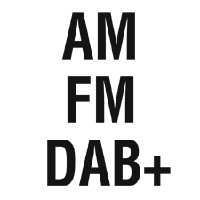 AM (Mittelwelle) - FM (UKW) - DAB+ Digitalradio