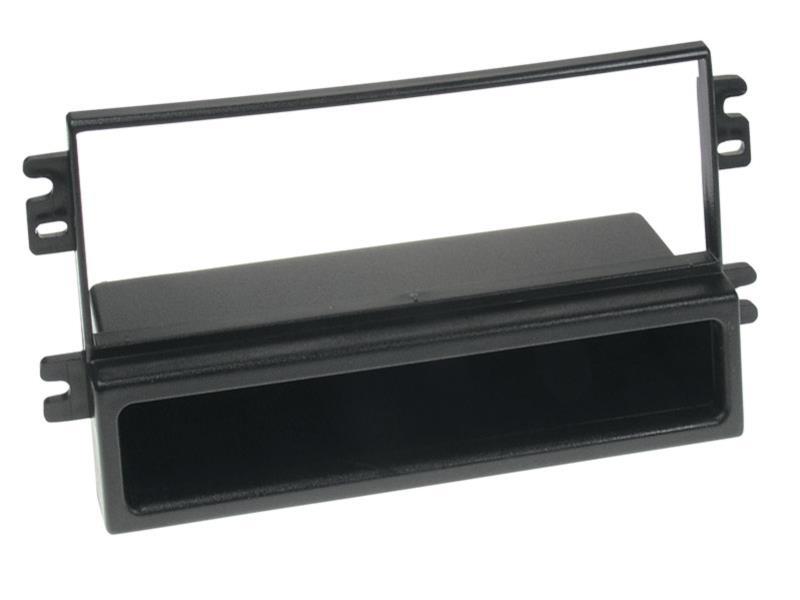 1 din rb mit fach kia carens ii 2002 schwarz. Black Bedroom Furniture Sets. Home Design Ideas