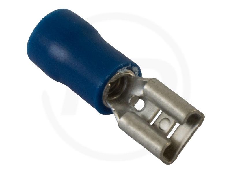 100 Flachsteckhülsen blau Steckmaß 2,8 für Kfz ++