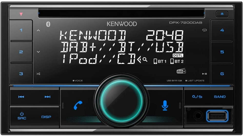 KENWOOD KDC-BT530U CD USB Autoradio Bluetooth FLAC variable Tastenbeleuchtung
